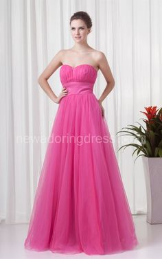 Sweetheart Tulle A-Line Dress with Pleats