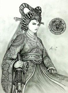 Aerye Hwang-Shi of Jima Seon-Guk by Gambargin on DeviantArt