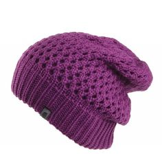 The North Face Shinsky Beanie Purple (48 CAD) ❤ liked on Polyvore featuring accessories, hats, beanie, hair accessories, purple hat, acrylic hat, slouchy beanie hat, slouch beanie hats and polka dot hat