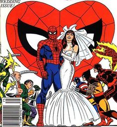 Just wanna' take a moment and wish my cousin Steve and his new wife India many happy years together. All the best always. -Cousin Pete  #SpiderMan #WeddingDay #AmazingSpiderMan #CironePutaRingOnIt #MaryJane #MaryJaneWatson #JohnRomitaSr