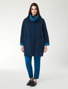 Giaccone reversibile in double di lana. Marina Rinaldi 5483aa7fae3