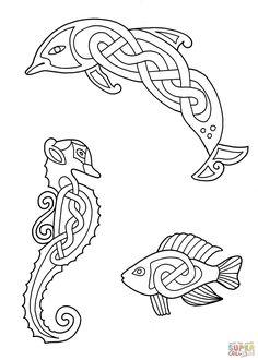 Más Animales, diseño celta | Super Coloring