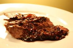 Grilled steak with red wine glaze. Delectable entree for your next event. #koshercatering #kosher. available at www.aaronscatering.com