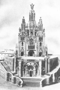 """Temple of the Sacred Heart in Barcelona, Spain MODEL The idea of building a Catholic church on the summit of the Mount Tibidabo emerged in the late 19th century amidst rumors about the construction of a Protestant church and a hotel-casino at that location. This motivated a """"Board of Catholic Knights"""" to acquire the ownership of the field and give it to Saint John Bosco in 1886, when he was visiting Barcelona at the invitation of Dorotea de Chopitea, a great patron and promoter of the…"""