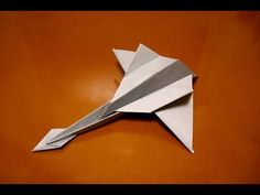 origami jet fighter - YouTube