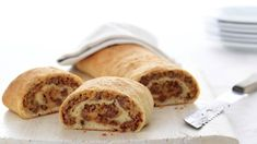 "Bacon Cheeseburger Roll-Up--Everyone loves this!  Made it as ""BBQ Bacon Cheeseburger"" and ""Pizzaburger"""