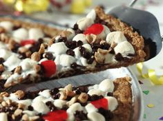 Gluten-free Rice Chex® makes the crunchy cookie crust in a fun-to-eat dessert that kids can decorate.
