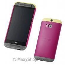 HTC CUSTODIA ORIGINALE DOUBLE DIP COVER HARD CASE INTERCAMBIABILE ONE MINI 2 ROSA PINK NEW NUOVA - SU WWW.MAXYSHOPPOWER.COM