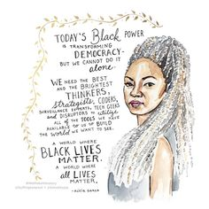 Today, we're celebrating activist and co-founder of the Black Lives Matter movement Alicia Garza. Coretta Scott King, Nora Ephron, Malala Yousafzai, Gloria Steinem, Eleanor Roosevelt, Women In History, Black History, Modern History, British History