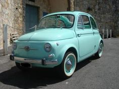 Fiat 500 in the colours of Bianchi bikes. Fiat 500, Tiffany Blue Car, Sweet Cars, Taxi, Travel Style, Aqua, Turquoise, Dream Cars, Automobile