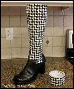 Duck Tape Covered Boots | Crafting in the Rain