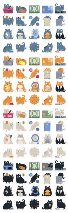 Cat Commerce Icons