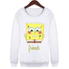 BFF Best Friends Forever Spongebob Sweatshirt Sweater Crewneck YOLO Fashion trendy vogue coloured block SQ12017 TQI