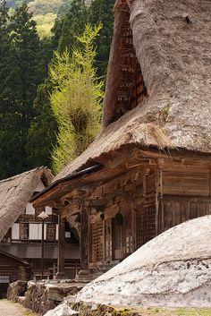 Traditional Japanese thatched farmhouse, Toyama
