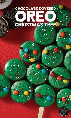 Nothing says Christmas like a Christmas Tree! Make your own with this easy Chocolate Covered OREO Christmas Tree recipe.