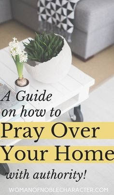 Complete guide to praying over your home: suggested prayer, scripture, how to anoint your home with oil Prayer Scriptures, Bible Prayers, Faith Prayer, Prayer Quotes, Quotes Quotes, Bible Verses, Mom Prayers, Cover Quotes, Serenity Prayer