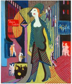 Ernst Ludwig Kirchner, Woman Walking over a Night Street, 1928-1929