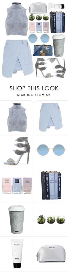 """""""LAST WEEK"""" by shanelala ❤ liked on Polyvore featuring Influence, Steve J & Yoni P, Chloe Gosselin, Chanel, Sunday Somewhere, Nails Inc., Fitz and Floyd, Balmain and MICHAEL Michael Kors"""