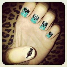 Dream catcher Feather nail