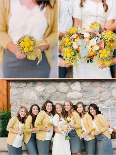 cardigans for the bridesmaids. this is perfect