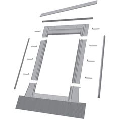 FAKRO Aluminum Deck Mount Skylight Flashing Kit at Lowe's. EH flashing kit is designed for FAKRO deck mount skylights FX, FV, FVE, and FVS models. It is required to complete the skylight installation and assure Roof Flashing, Aluminum Decking, Egress Window, Roof Colors, Roof Covering, Roof Window, Spanish Tile, Roofing Materials, Roof Design