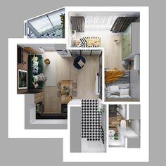 378 отметок «Нравится», 18 комментариев — проектирование_дизайн_ландшафт (@projection_design) в Instagram: «Специально для тех, кто хотел посмотреть планировку квартиры #lightloft_проекция_дизайн ☺️ Нравятся…»