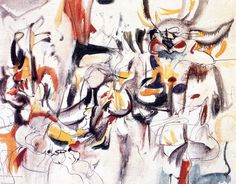 """""""To Project, To Conjure"""" oil on canvas painted by Arshile Gorky in Western Art, Abstract Painting, Painting, Abstract Art, Art, Abstract, Canvas Painting, Inspirational Artwork, Abstract Expressionist"""
