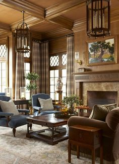 Study Library Living Home Office Contemporary TraditionalNeoclassical Transitional by Rinfret Limited Interior Design & Decoration LLC Interior Design Portfolios, Decor Interior Design, Traditional Interior, Traditional House, Traditional Design, Salas Home Theater, Living Room Designs, Living Room Decor, Living Rooms