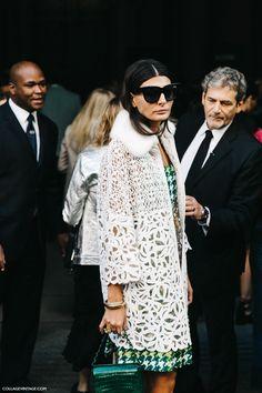 Milan Fashion Week, Street Style #streetstyle #fashion Giovanna Battaglia