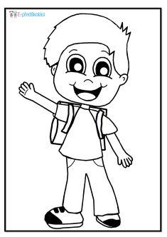 Omalovánka - školák - zápis do první třídy Coloring Pages, School, Fictional Characters, Jar, Quote Coloring Pages, Kids Coloring, Fantasy Characters, Colouring Sheets, Jars