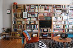 Irina's Modern Xanadu - LOVE the bookshelves. Super cool mid century modern/retro furniture