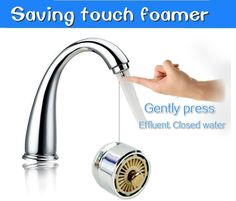 Tap Touch Type Stainless Steel Kitchen Faucet 360 Degree Rotation Water-saving Water Antibacterial Bubble Device Network