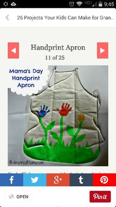 Mothers day/ teachers appreciation handprint apron.