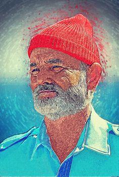 05a5a71737a Steve Zissou Digital Art - Steve Zissou by Taylan Soyturk Fine Art Prints