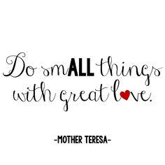 FREE Love quote printable by Mother Teresa {Julz Treasure Chest}