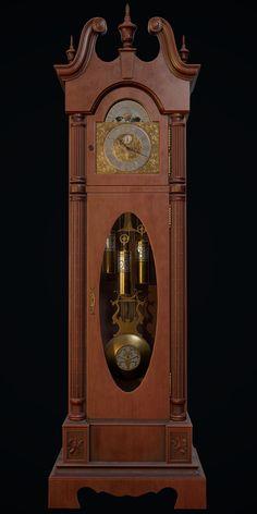 Grandmother Clock, Mantel Clocks, Art Station, Antique Clocks, Dream Life, Sculptures, Display, 3ds Max, Texture