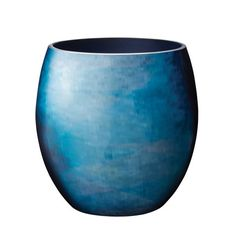 Stelton - Stockholm Vase Ø 203 mm gross Blau H:23