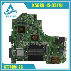 Hot!!! S56C S56CM K56C K56CB motherboard For Asus K56CM REV2.0 Mainboard I5-3317U Processor GT740 2G N14P-GE-OP-A2 100% Tested #Affiliate