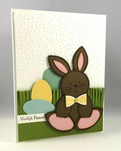 stampin up friends and flowers punch art bunny by Carmen Morris