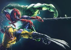 One of the BEST combos in Marvel vs. Capcom.... mainly Wolverine & Spider-Man. Hulk was beast tho too