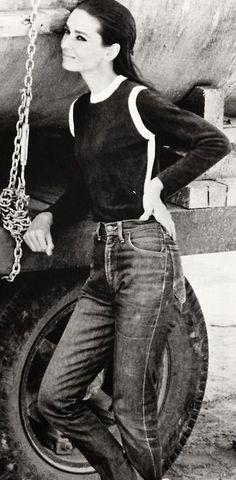 Rare Audrey Hepburn — Audrey Hepburn wearing jeans requested...