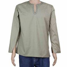 Kurta Shirt Novelty Dress Men Asian Fashion Cotton Clothes: Amazon.co.uk: Clothing