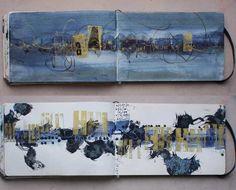 Such interesting art. I wonder how it will look on a canvas Artist Journal, Artist Sketchbook, Art Journal Pages, Art Journals, Sketchbook Pages, Kunstjournal Inspiration, Sketchbook Inspiration, Book Art, Watercolor Journal
