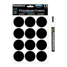 72 Round Chalkboard Mason Jar Lid Canning Labels for Food Storage, Pantry, Spice Jars and Freezer! Waterproof Black Vinyl Chalkboard Stickers are Ideal for Chalk Markers (2.0 Inches Wide) *** Read more at the image link.