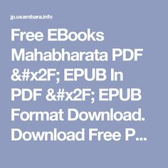 Free EBooks Mahabharata PDF / EPUB In PDF / EPUB Format Download. Download Free PDF Book Now!
