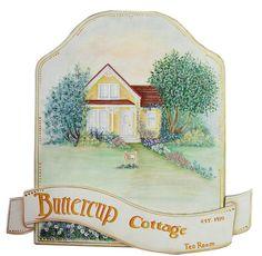 BUTTERCUP COTTAGE an original wooden wall by DianeTrierweiler, $59.99