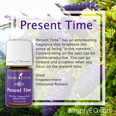"""Present Time™ has an empowering fragrance that heightens the sense of being """"in the moment."""""""