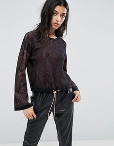 ASOS Sweater with Stitch Detail and Drawstring - Multi