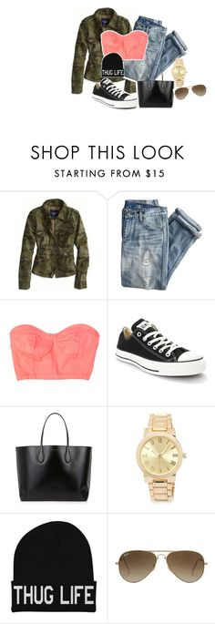 """""""-Cause I be working hard and I know you be on that same shiit , every other day's a different game that you just can't win-"""" by shadysqueen ❤ liked on Polyvore featuring American Eagle Outfitters, J.Crew, Converse, Rochas, Forever 21 and Ray-Ban"""