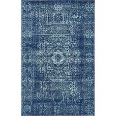 $422 9'x12' Noan Navy Blue Area Rug